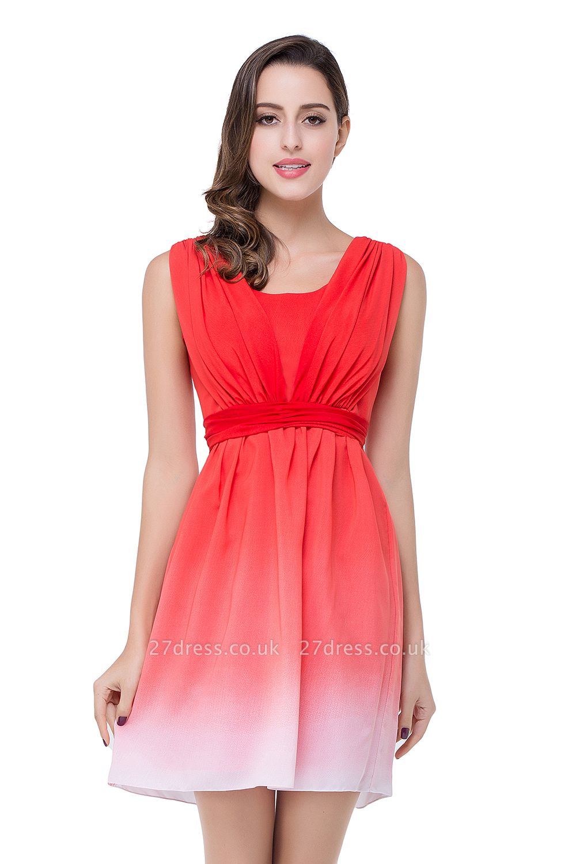Luxury Ombre Short Prom Dress UK Sleeveless Bridesmaid Dress UK