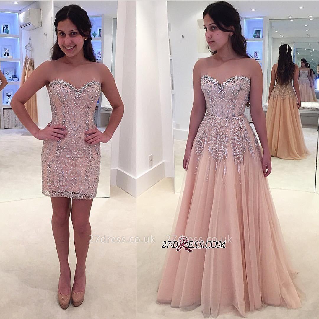 Sweetheart Beads Lace Luxury Sleeveless Prom Dress UK