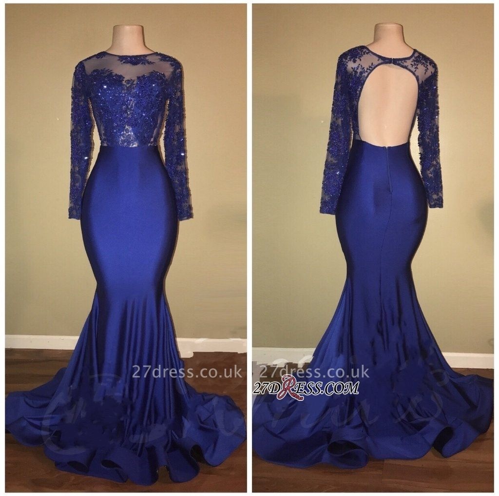 Royal blue mermaid prom Dress UK, long evening gowns RM0