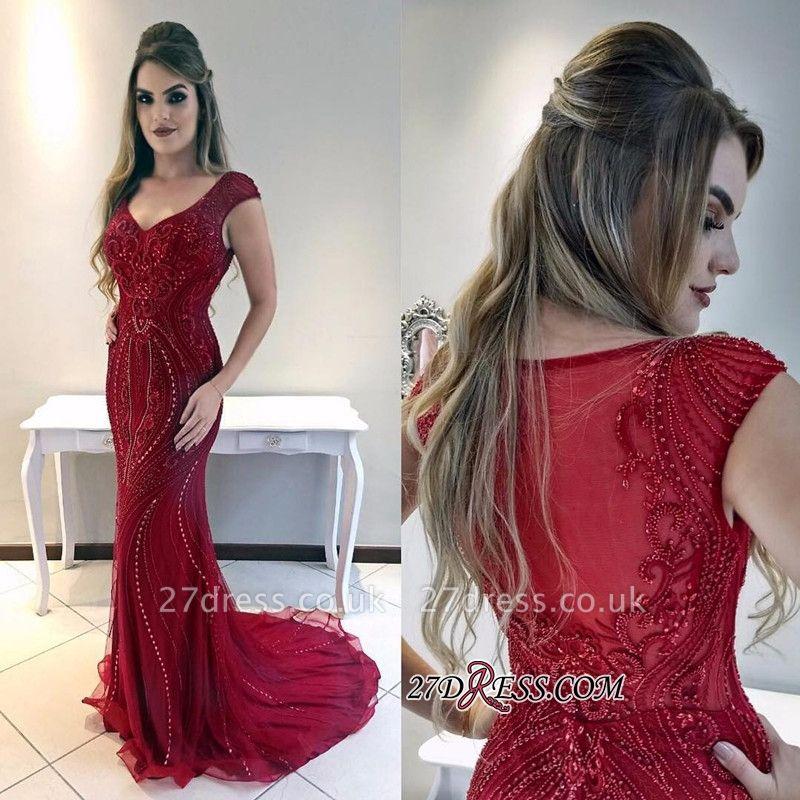 Red prom Dress UK, mermaid evening Dress UKes UK