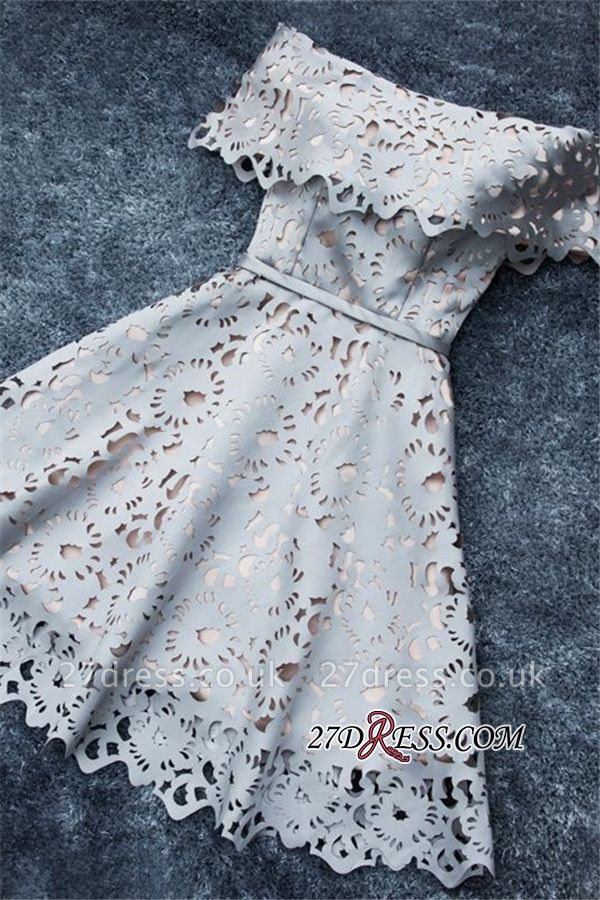 Lace Off-the-Shoulder Simple Short A-Line Homecoming Dress UK BA6832