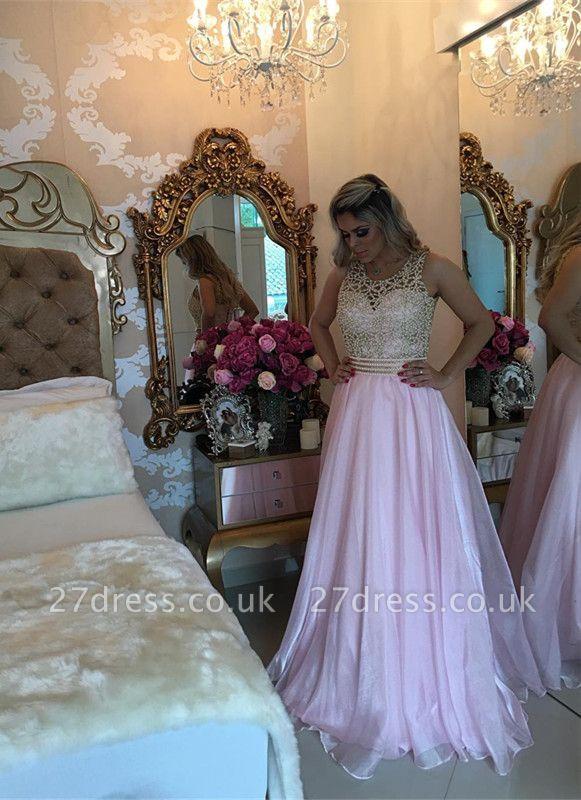 Luxury Sleeve Long Prom Dress UK With Beads BA3465
