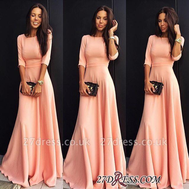 A-line Jewel Sexy Half-sleeve Chiffon Prom Dress UK SP0361
