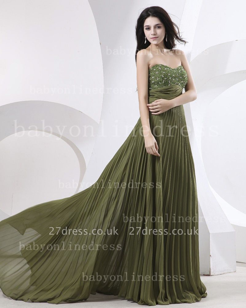 Sweetheart Ruffles Green Evening Dress UKes UK BabyonlineDress UK Beading Sheath Dark Gowns