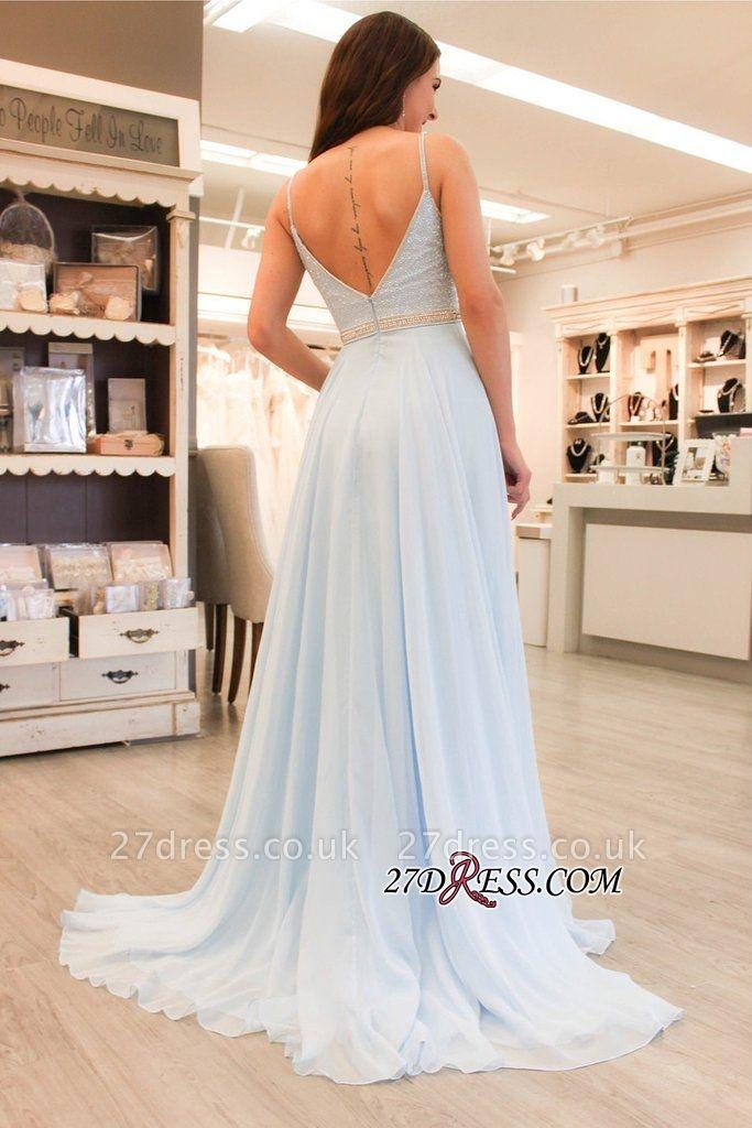 Long chiffon prom Dress UK, evening party Dress UK on sale BA8158
