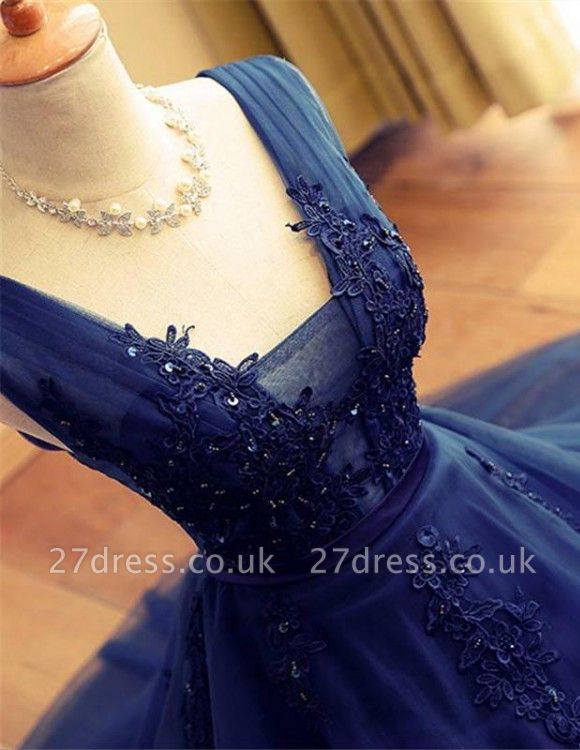 Delicate Lace Straps Sleeveless Beads A-line Short Homecoming Dress UK