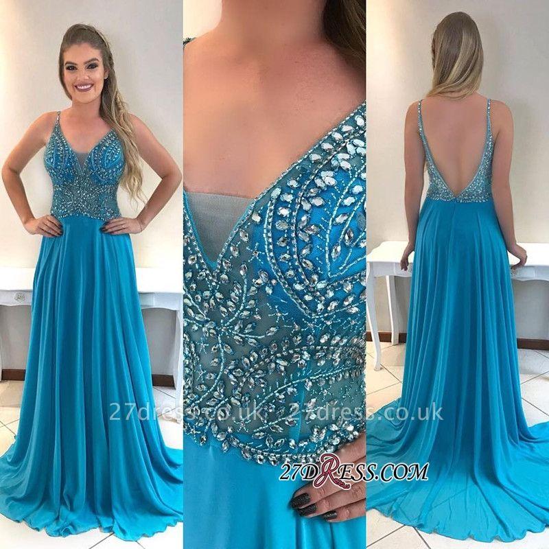 Chiffon prom Dress UK, evening Dress UKes UK with crystal