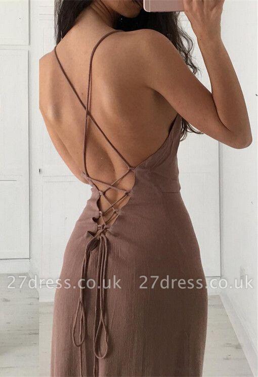 Sexy Sleeveless Lace-up Prom Dress UK Long Floor Length BA3934