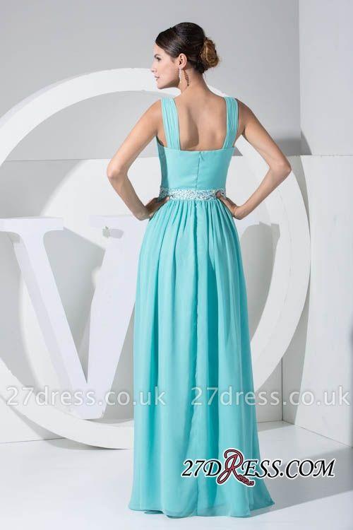 Beads Sequins Sleevless Chiffon Sexy Elegant Strapless Bridesmaid Dress UKes UK