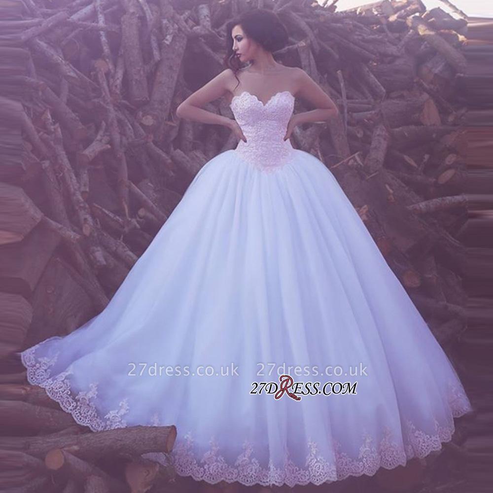 Appliques Ball Tulle Sweetheart Elegant Wedding Dresses UK BA3789