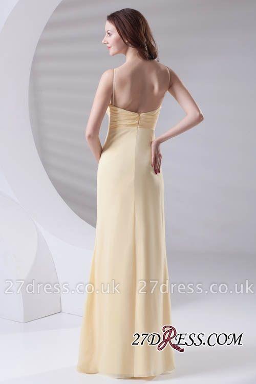 Spaghetti-Straps Chiffon A-Line Sexy Bridesmaid Dress UKes UK