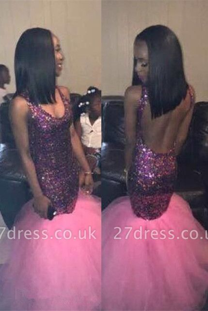 Sequins Mermaid Prom Dress UK | Tulle Party Gowns On Sale