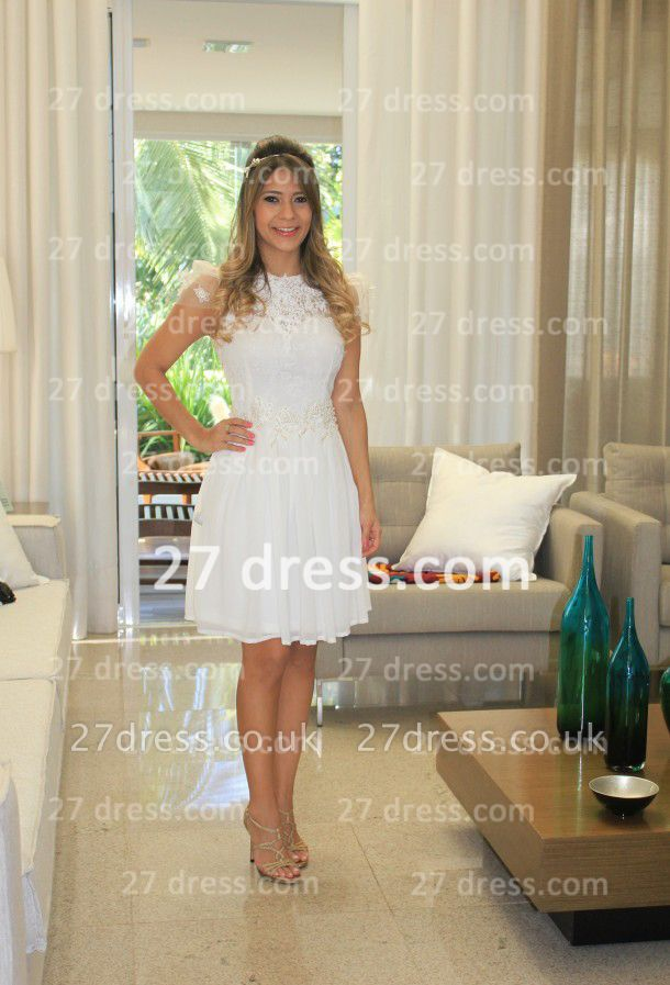 Prom De Short White Lace Cocktail Dress UK with New Arrival Sexy Gowns Vestidos Fiesta Sleeves