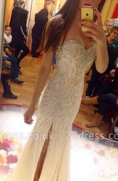 Gorgeous Sweetheart Beadings Prom Dress UKes UK Front Split Floor Length