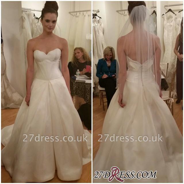 Sleeveless Princess Elegant Zipper Sweetheart Wedding Dress
