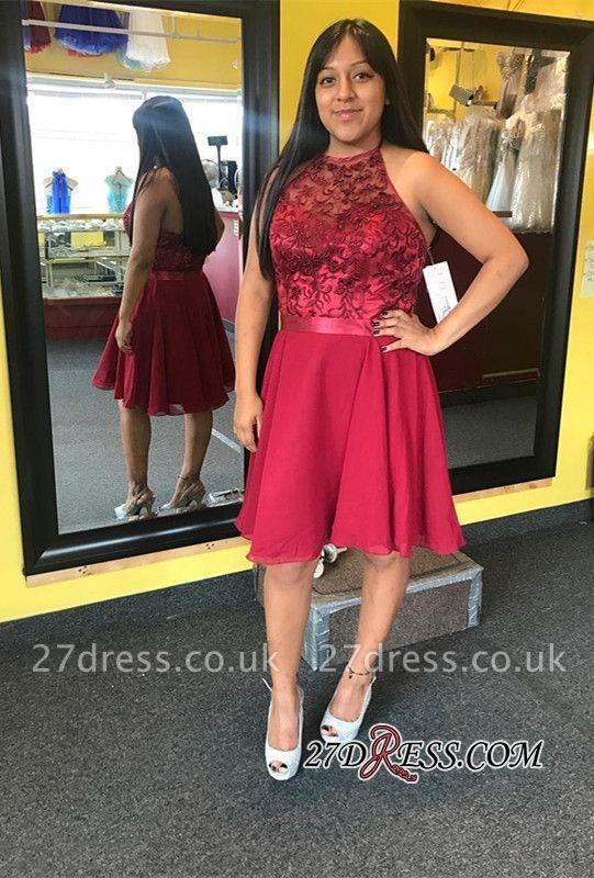Halter lace short prom Dress UK, chiffon homecoming Dress UKes UK