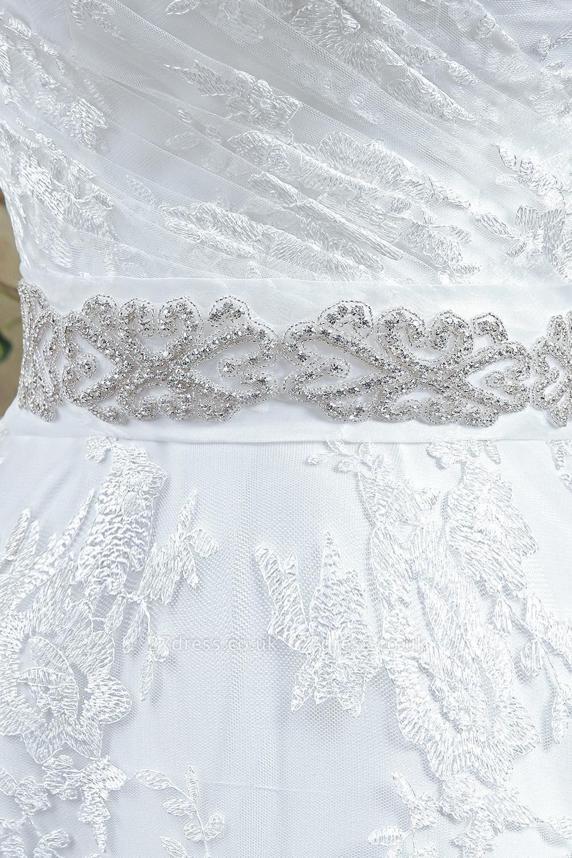 Modern Sweetheart Princess Wedding Dress Lace-up Beadss Bowknot