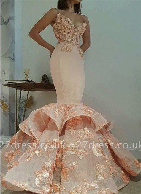 Newest Lace Sweetheart Mermaid Sleeveless Prom Dress UK BA9645