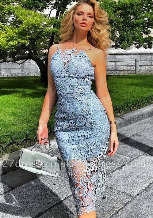 Luxury Lace Halter Short Prom Dress UK | Mermaid Lace Homecoming Dress UK BA9781