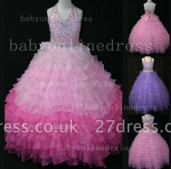 Beaded Ball Gown Dresses for Girls with Hot Sale Formal Gowns Teens Summer Layered Pageant Shops