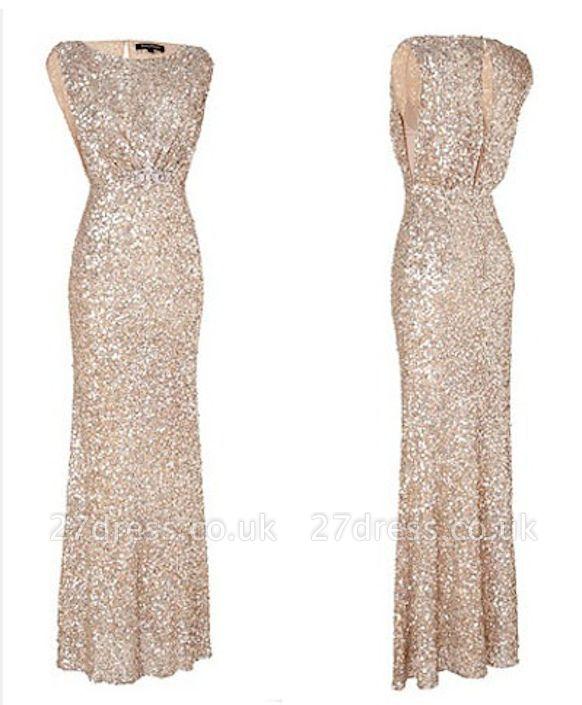 Simple Mermaid Floor Length Bridesmaid Dress UKes UK Sequined Popular Wedding Party Dress UKes UK