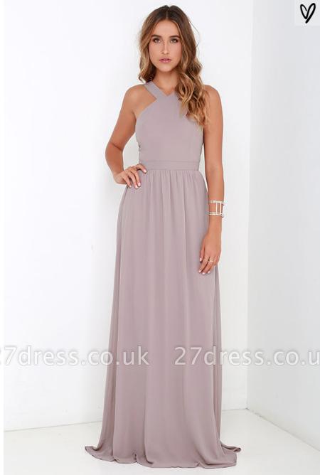 Sexy Strap Sleeveless Prom Dress UK Floor Length Zipper Back BA3185