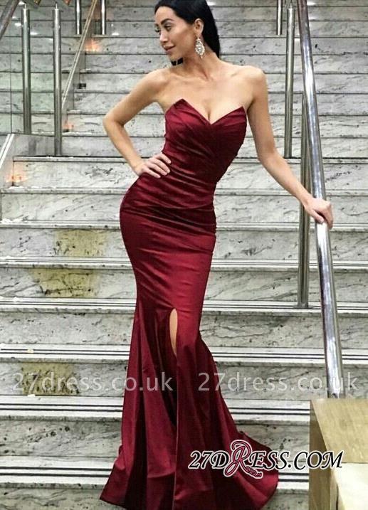 Floor-Length Sweetheart Split Modern Mermaid Evening Dress UK