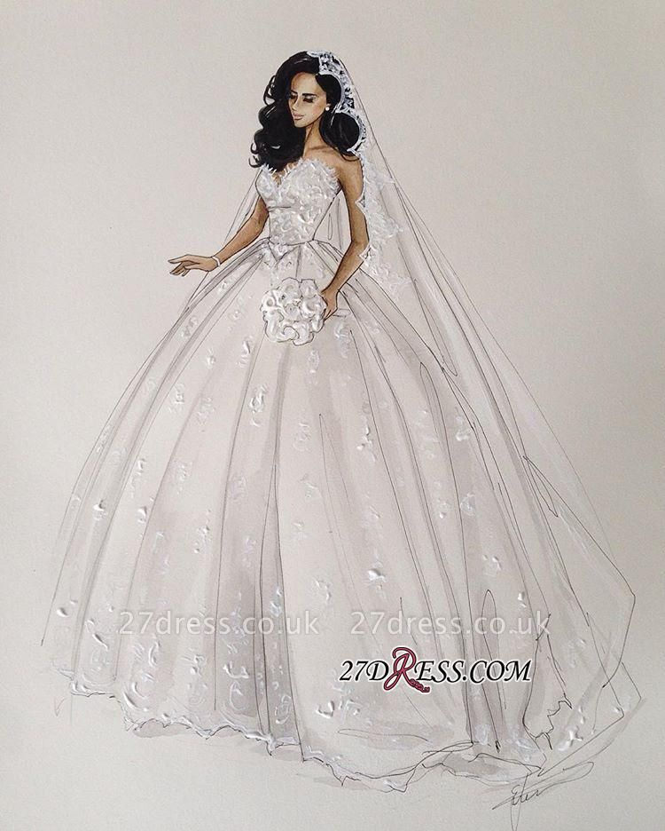 Stunning Sweetheart Ball Gown Lace Wedding Dress BA7462
