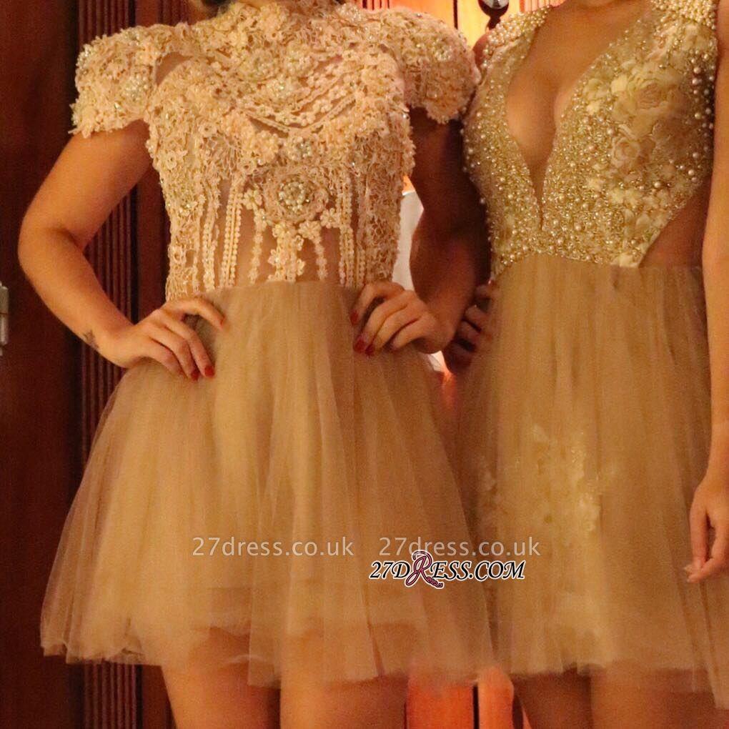 Lace shaort prom Dress UK, lace homecoming Dress UK