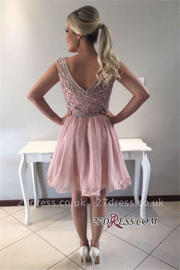 Crystal short prom Dress UK, homecoming Dress UK