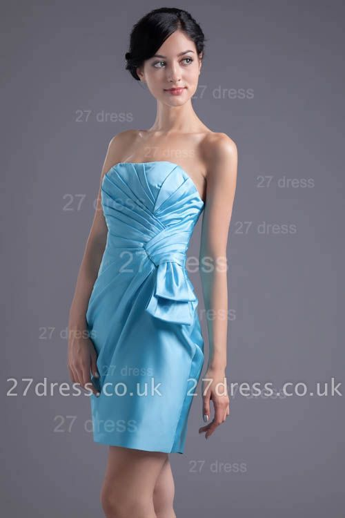 Modern Strapless Bodycon Short Cocktail Dress UK Sleeveless Zipper