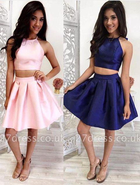 Lovely Halter Sleeveless Short Homecoming Dress UK Two Pieces BA4827