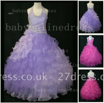 Beaded Organza Girls Pageant Dresses for Sale with Affordable Charming Wholesale Layered Gowns for