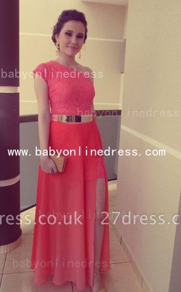 New Arrival Elegant Lace Long Vestidos Prom Dress UKes UK Chiffon One Shoulder Formal Evening Gowns