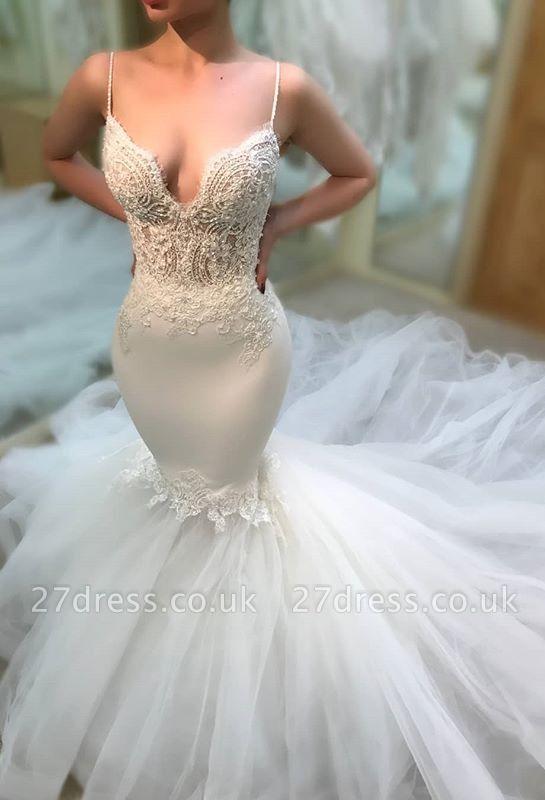 Elegant V-Neck 2019 Wedding Dress | Lace Sexy Mermaid Long Bridal Gowns