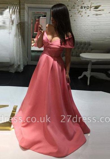 Elegant Off-the-shoulder A-line Prom Dress UK | Simple Prom Dress UK