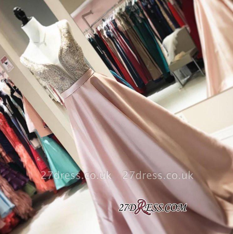 Brilliant V-neck Prom Dress UKes UK WIth Crystals Online