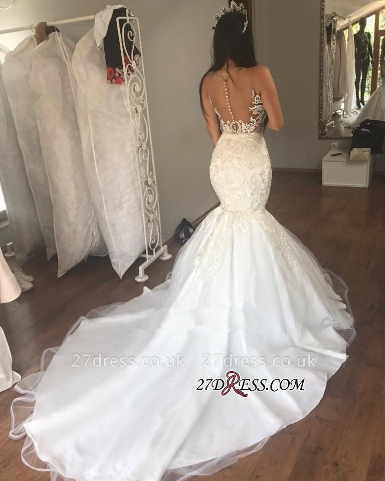 Gorgeous Sleeveless Wedding Dress | Sexy Mermaid Long Bridal Gowns On Sale