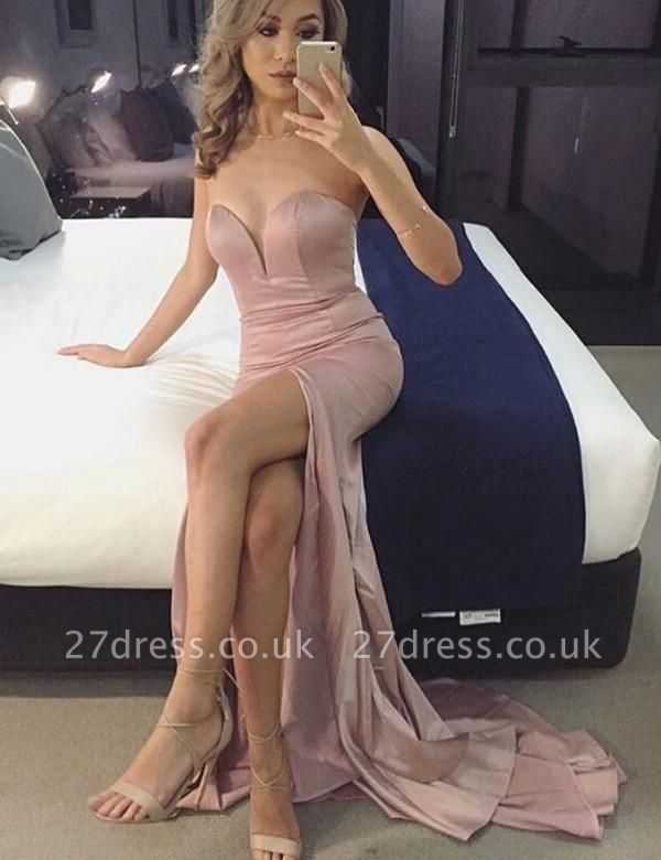Sexy Sweetheart Prom Dress UK | Mermaid Evening Gowns With Slit