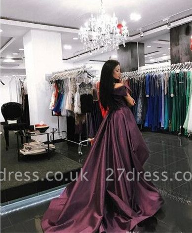 Gorgeous Off-the-Shoulder Mermaid Evening Dress UK Long With Ruffles