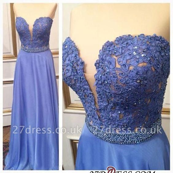 Floor-Length Sexy Sweetheart Crystal Lace A-Line Prom Dress UKes UK