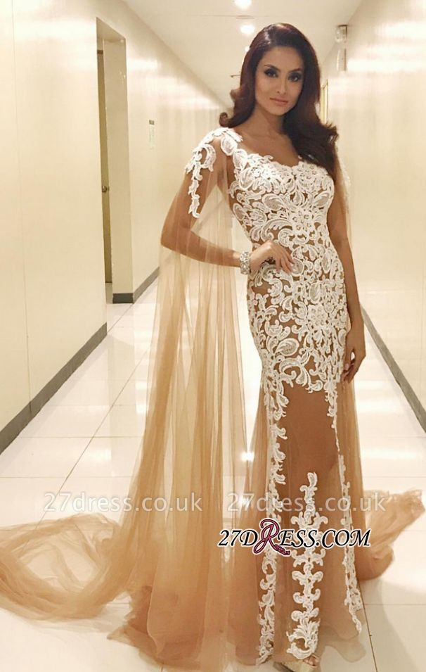 Lace prom Dress UK with ruffles, tulle evening gowns