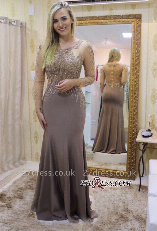 Long sleeve prom Dress UKes UK, beadings evening party Dress UK