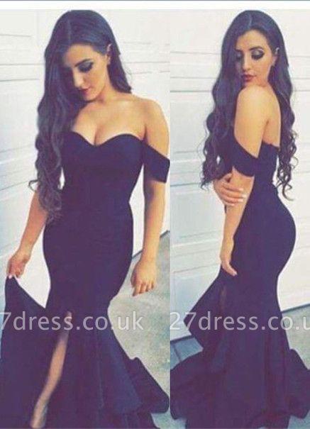 Fabulous Off-the-shoulder Mermaid Evening Dress UK Split Front