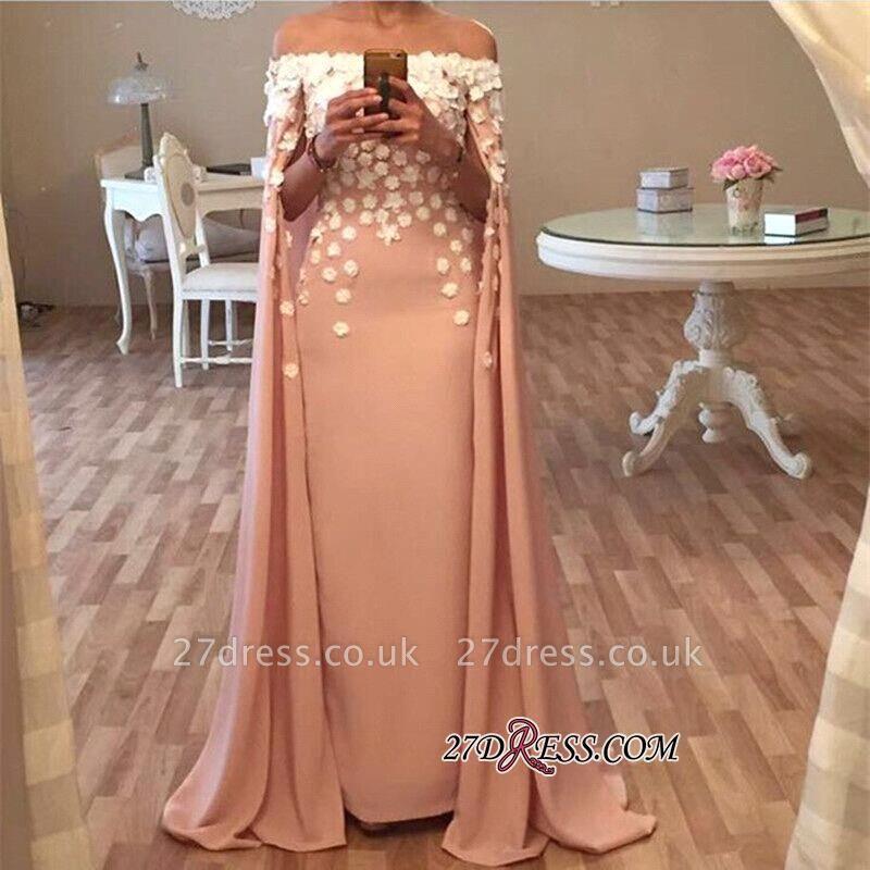 Flowers Long Floor-Length Gorgeous Appliques Designer Prom Dress UK