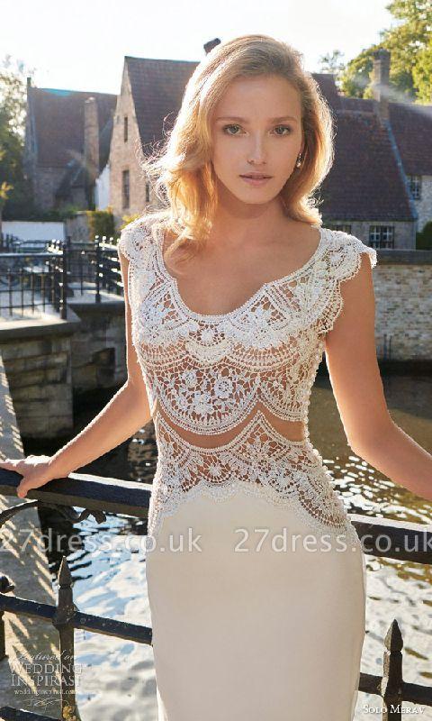 Gorgeous Designer Lace Wedding Dress Sexy Mermaid Sweep Train
