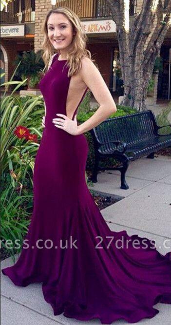 Gorgeous Sleeveless Mermaid Prom Dress UKes UK Sweep train