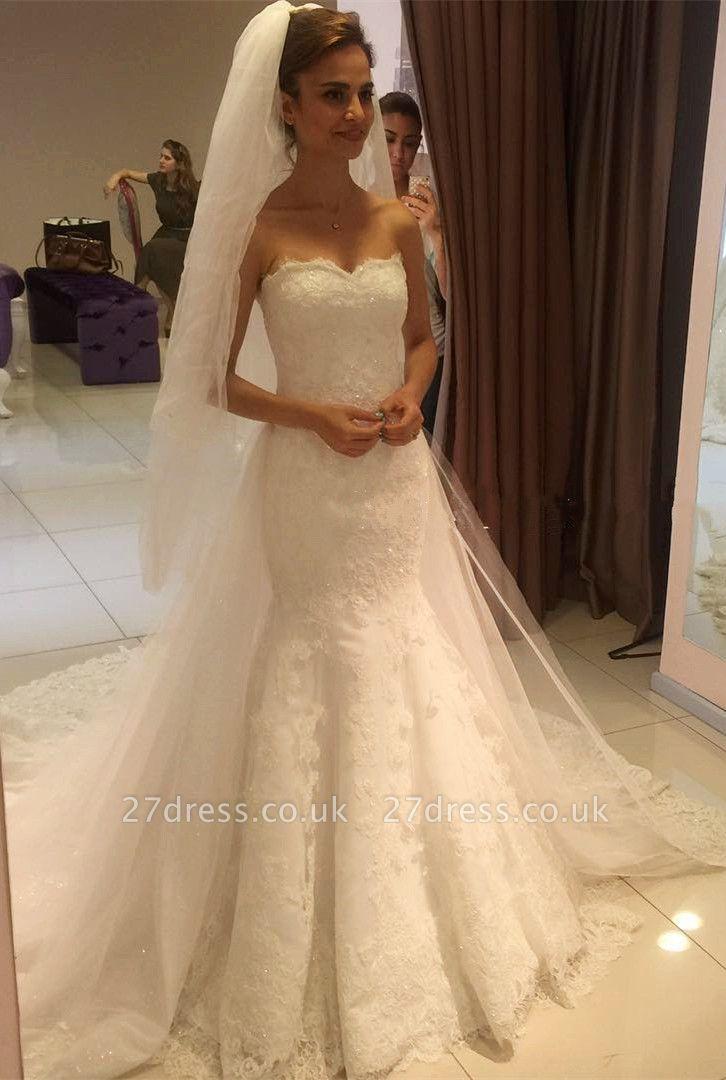 Elegant Sweetheart Lace Sexy Mermaid Wedding Dress