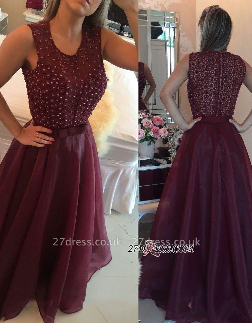 Burgundy evening Dress UK, prom Dress UK with pearls