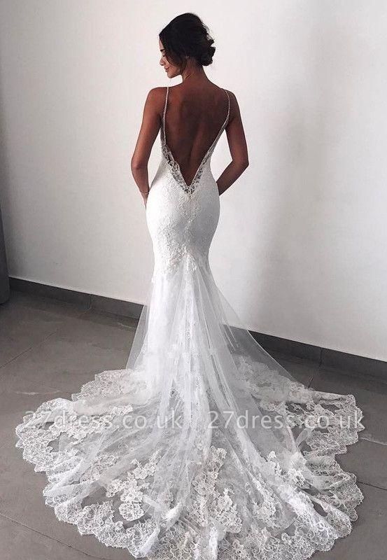 Fashion Backless Lace Wedding Dress   Sexy Mermaid Bridal Gowns